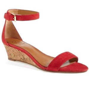 066000b47005 Tory Burch Shoes - TORY BURCH RED SAVANNAH WEDGE heels sandals 8.5